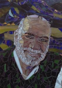 Stained Glass Portrait of Saad R Mikhaiel ©Gisela Gibbon