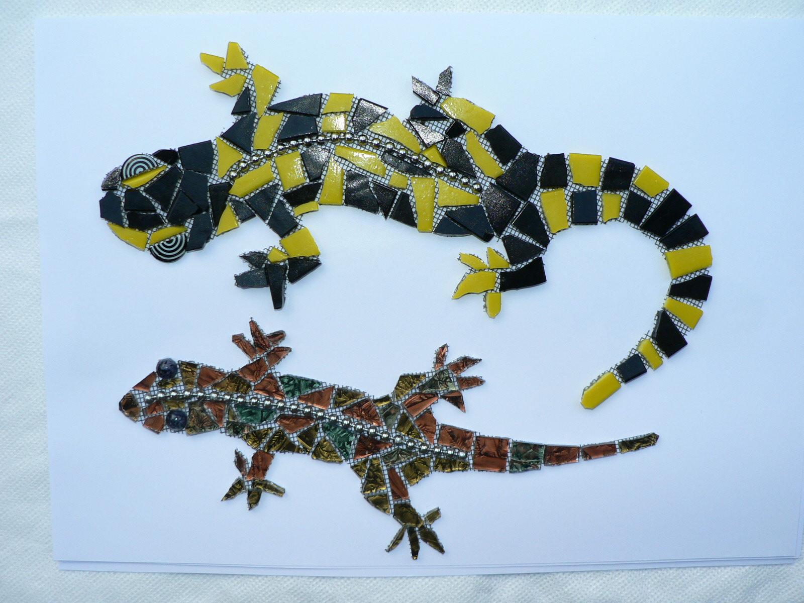 Lizards, Gisela Gibbon Mosaic Artist, Scarborough