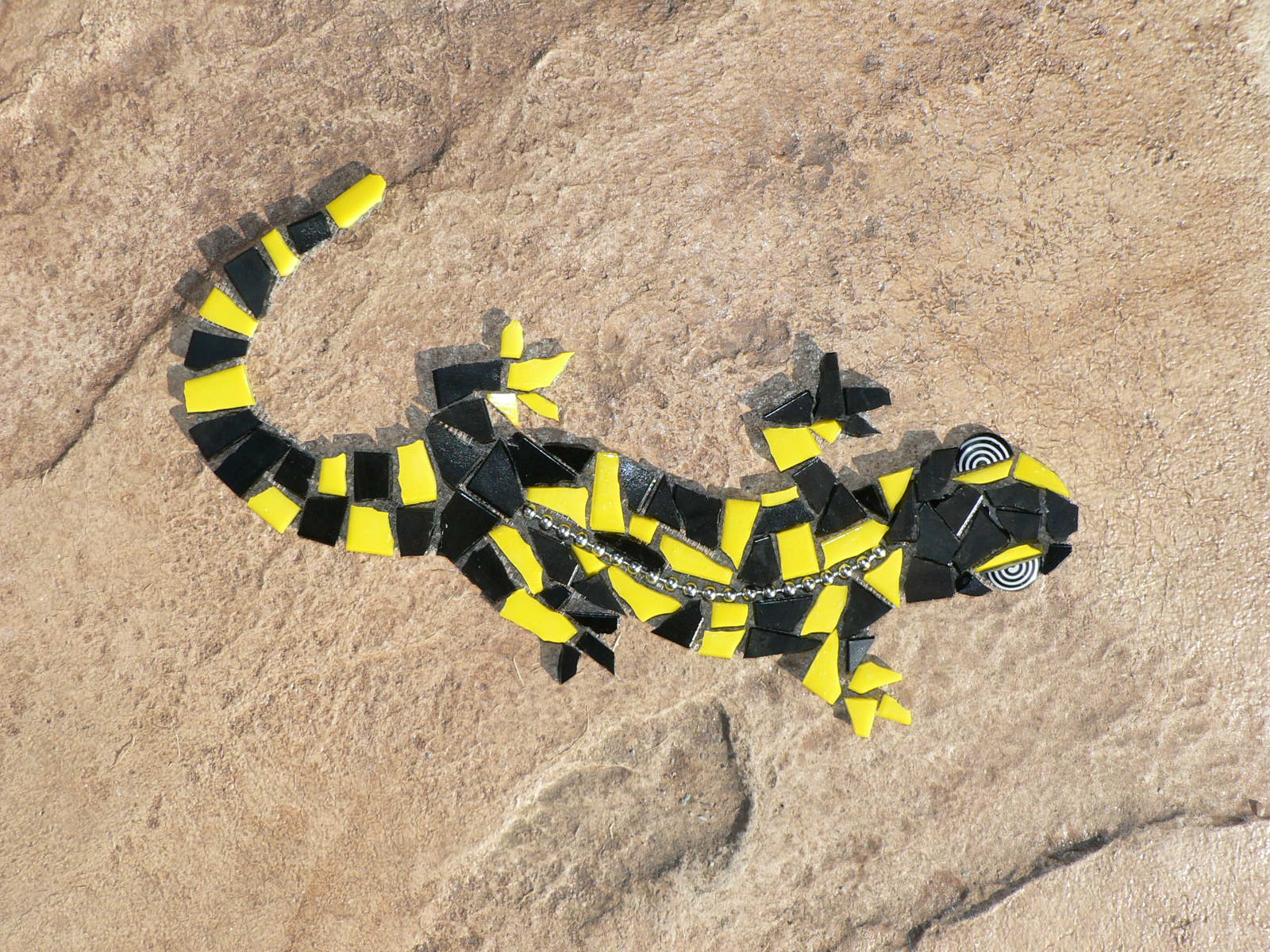 Tiger Salamander, Gisela Gibbon Mosaic Artist Scarborough